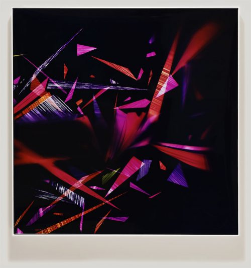 color photogram titled: Sticky Trigger Reflex from the series Precariously Bright