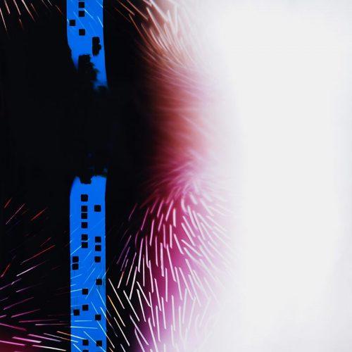 color Photogram, titled Supercritical Fluid by lighting artist Richard Slechta