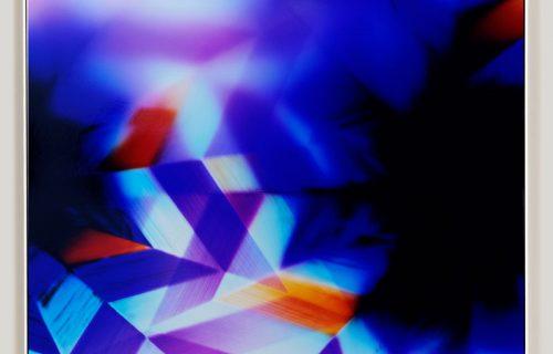 Framed color photogram titled, Transition Waiver