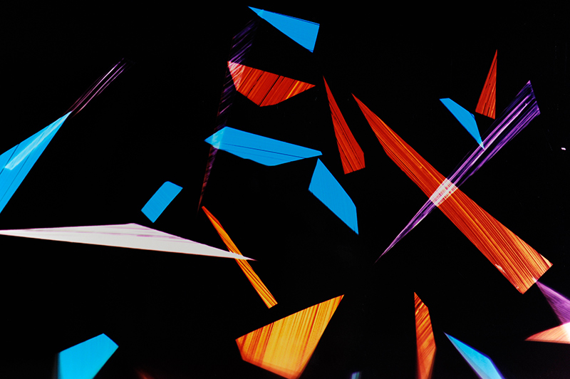 close-up detail of color photogram titled: Undisclosed-Integration from the Cascades Series