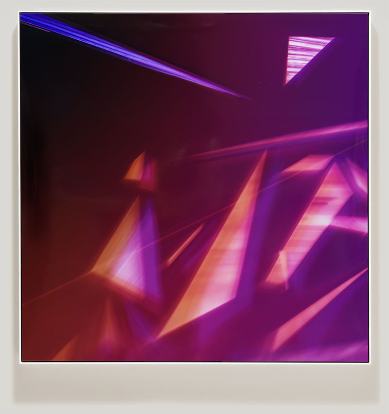 color photogram titled: Unspoiled Immaculance from the series Precariously Bright
