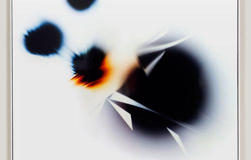 minimalist color photogram titled; Upthrust Distraction by artist Richard Slechta