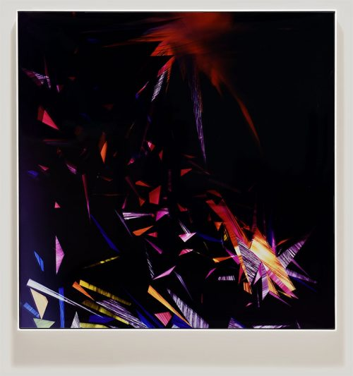 color photogram titled: Variable Reentry from the series Precariously Bright