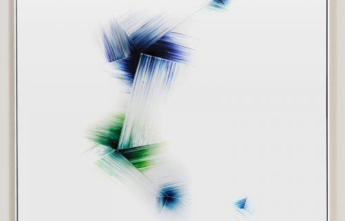 Minimalist color photogram titled Variationally Consistent by artist Richard Slechta