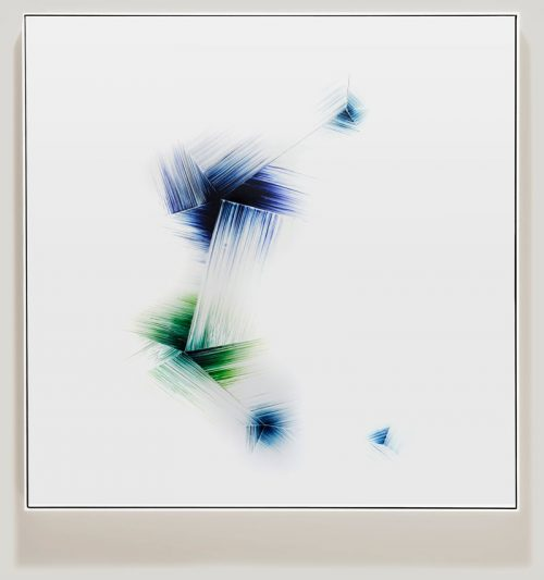 Minimalist color photogram titled Variationally Consistent by artist Richard Slechta