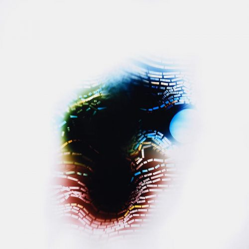 color Photogram, Yielding Resistance by lighting artist Richard Slechta