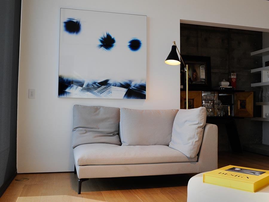 color photogram in designer Hollywood Hills home by artist Richard Slechta